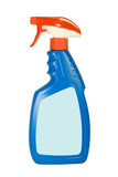 Fototapety Cleaning spray pack isolated on white background..