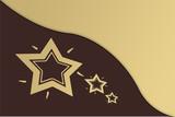 goldsterne - braun poster