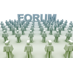 Group Forum Discussions with many 3d human characters