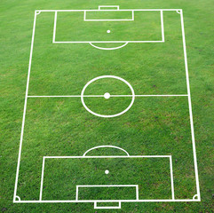 Soccer pitch with perspective smooth surface