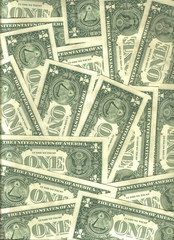 background of U.S. banknotes from a dollar