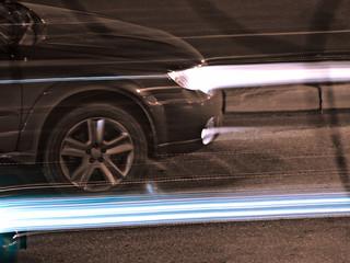 Nightly traffic, xenon beams