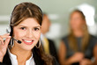 beautiful business customer service woman - smiling