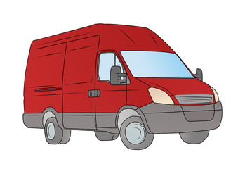 camioncino rosso