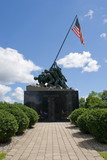 Detail of the Iwo Jima Memorial Statue in New Britain, CT poster