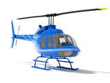 helicopter isolated on a white background