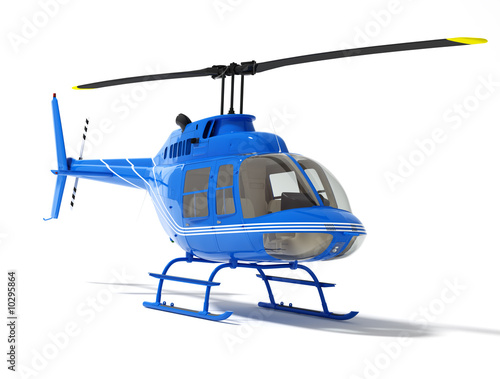 Foto op Canvas Helicopter helicopter isolated on a white background