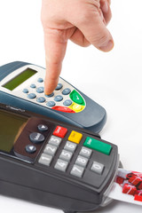 Credit card terminal (POS-terminal) for payment