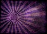 Radiating grunge background in purple poster