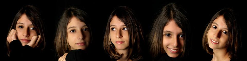 expressions d'adolescente