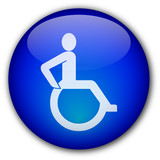 Disability Symbol button poster