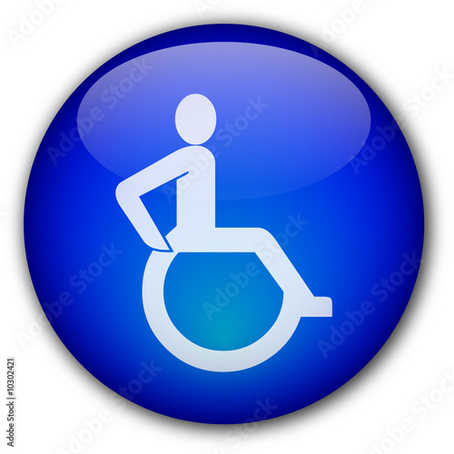 Disability Symbol button