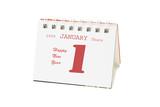 January 1,  2009 shown on mini desktop calendar poster