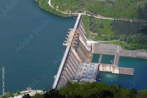 Water barrier dam, Perucac, river Drina, Serbia