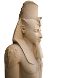 Statue of Ramses II isolated. Memphis museum, Egypt. poster