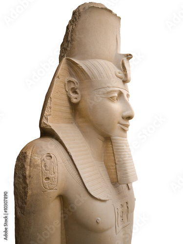 Statue of Ramses II isolated. Memphis museum, Egypt.