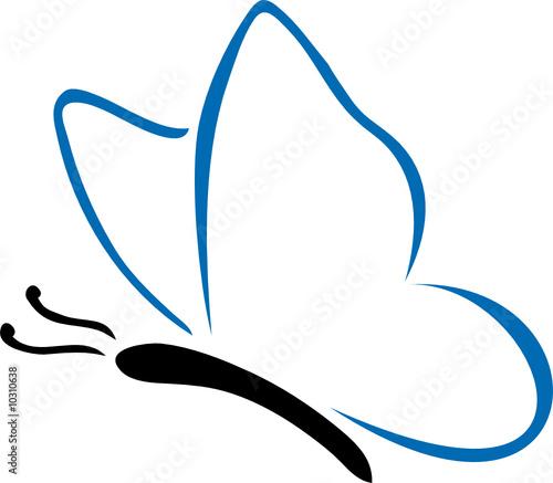 Dessin de papillon bleu fichier vectoriel libre de - Papillon image dessin ...