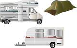 Camping and Caravan Illustrations poster