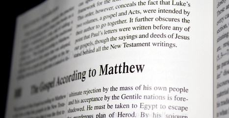 Bible gospel according to matthew