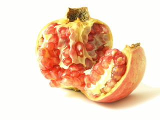 pomegranate, isolated