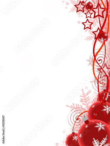 Christmas Ball on red background