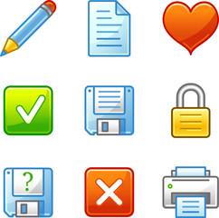 Document web icons, alfa series