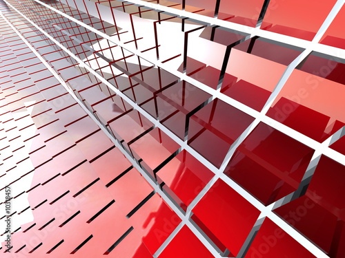 Abstract background of red textured squares