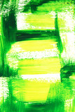 Vibrant green and yellow brush strokes. Hand-painted background. poster