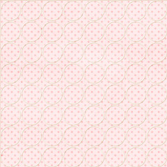 Pink dotted background with circles