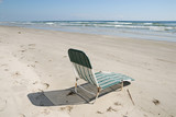 Chair on the beach, Padre Island, United States poster