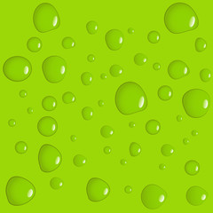 Green water drop background