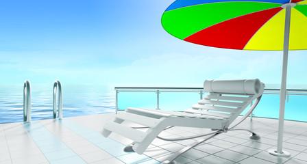 armchair and sunshade