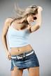 Leinwanddruck Bild - Beautiful female dancing