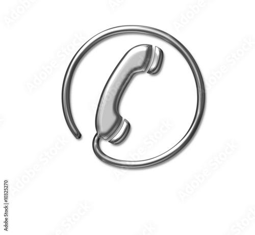 telefon, symbol, kontakt, metallisch