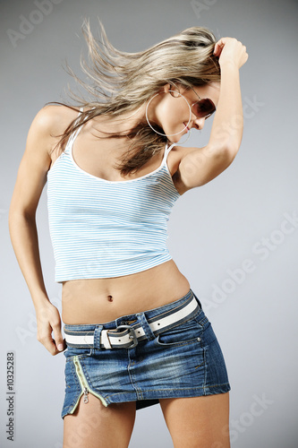 Beautiful female dancing