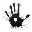 roleta: Powerful handprint splatter blow