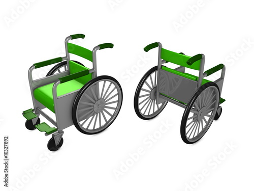 3d image, conceptual, disable wheelchair