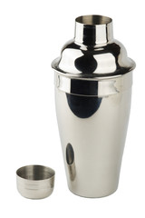 opened stainless steel shaker isolated