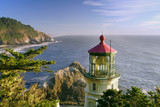 historic heceta lighthouse on oregon coast