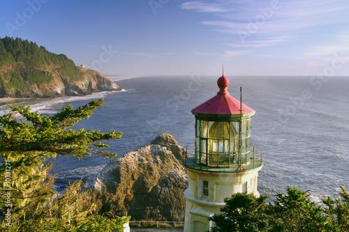 historic heceta lighthouse on oregon coast - 10331271