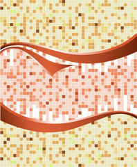 Mosaic panel with curves. Vector illustration
