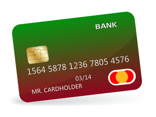 Variant of design of a credit card. Vector illustration