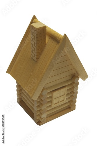 wooden isolated house