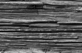 Black and white rotten wood background with copy space poster