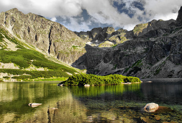 Czarny Staw Gasiennicowy lake in polish Tatra mountains