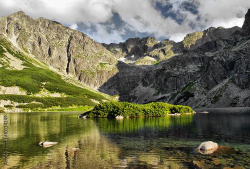Czarny Staw Gasiennicowy lake in polish Tatra mountains