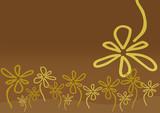 Fototapeta beżowy - kwiat - Tła