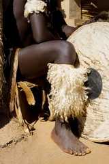 african drum player
