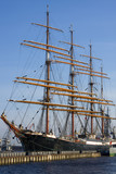 4-masted steel barque mooring in Saint-Petersburg
