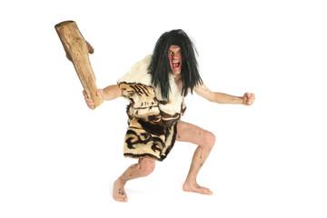 Homme préhistorique avec gourdin